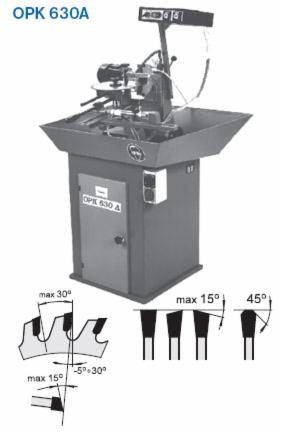 Sharpening and Machine maintenance, Sharpening machine for chain tools