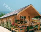 Wood Houses - Precut Timber Framing Spruce Picea Abies - Whitewood - Timber Framed House, Spruce (Picea abies) - Whitewood