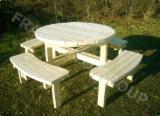 Garden Furniture - Traditional Spruce (Picea Abies) - Whitewood Garden Sets Prahova Romania