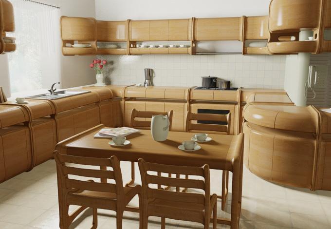vend ensemble de meubles de cuisine contemporain feuillus. Black Bedroom Furniture Sets. Home Design Ideas