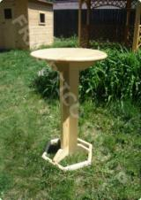 Romania Garden Furniture - Traditional, Spruce (Picea abies) - Whitewood, Garden Tables, Prahova, 1.0 - 100.0 pieces Spot - 1 time