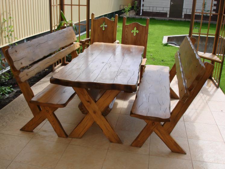 Столы для дачи уличные из дерева