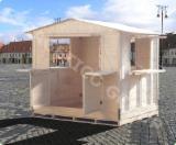 Holzhäuser - Vorgeschnittene Fachwerkbalken - Dachstuhl Zu Verkaufen - Gartenhaus, Fichte  - Weißholz