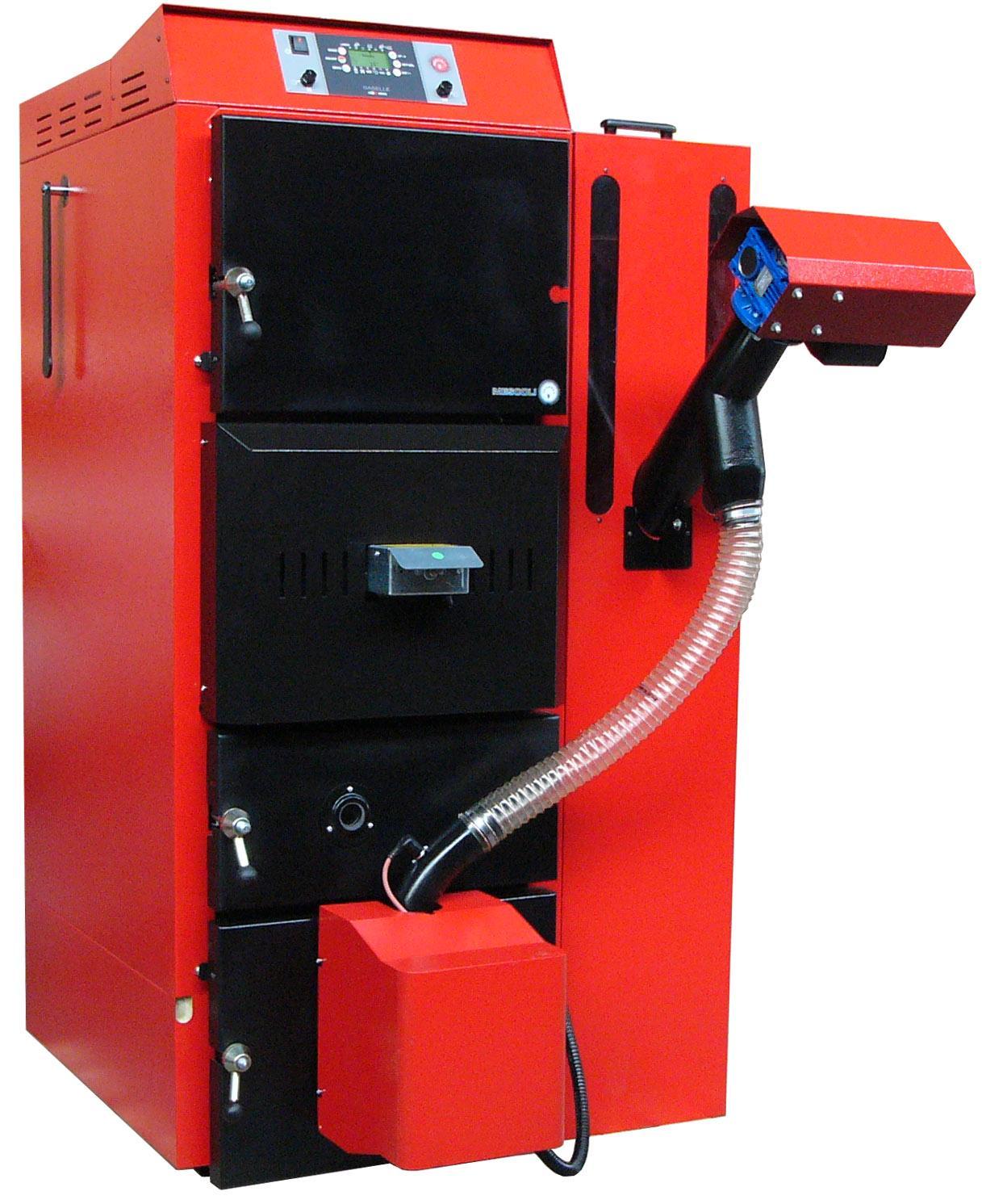 Caldaie combinate legna pellet a funzionamento automatico for Mescoli caldaie