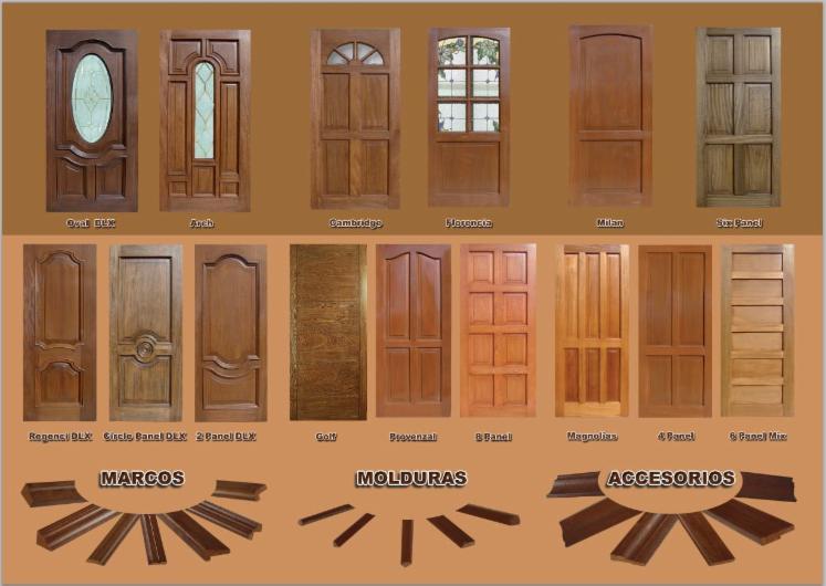 Exportamos puertas de madera maciza molduras for Precio puerta madera maciza