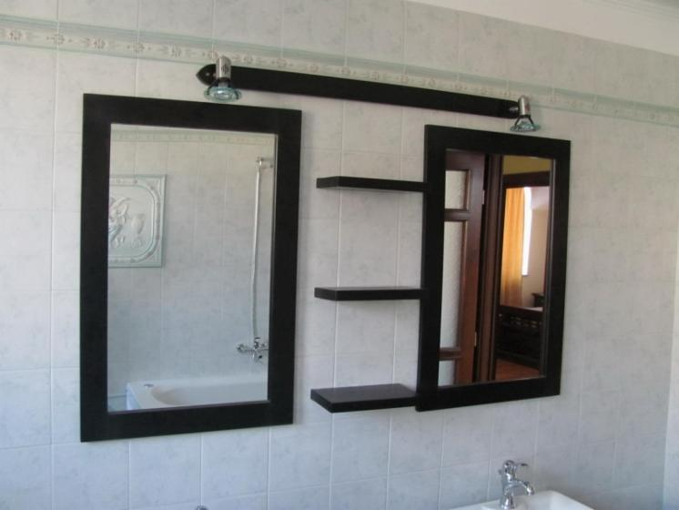 Oak bath mirror