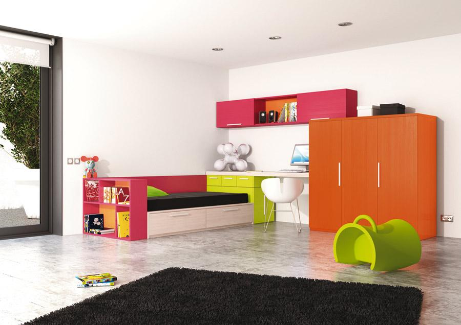 Set camerette per bambini design 12 0 16 0 containers 40 39 al mese - Camerette design bambini ...