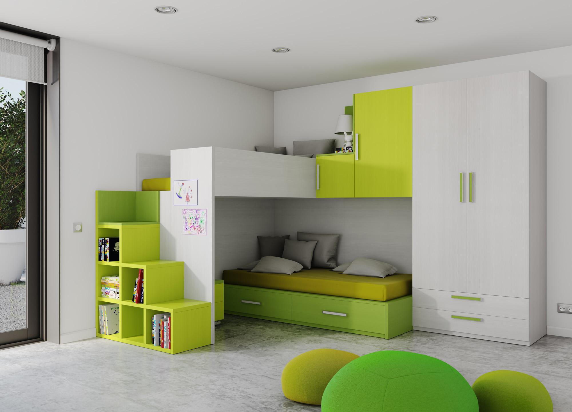 Dormitorio de ni os as en dise o for Diseno de habitaciones para ninos