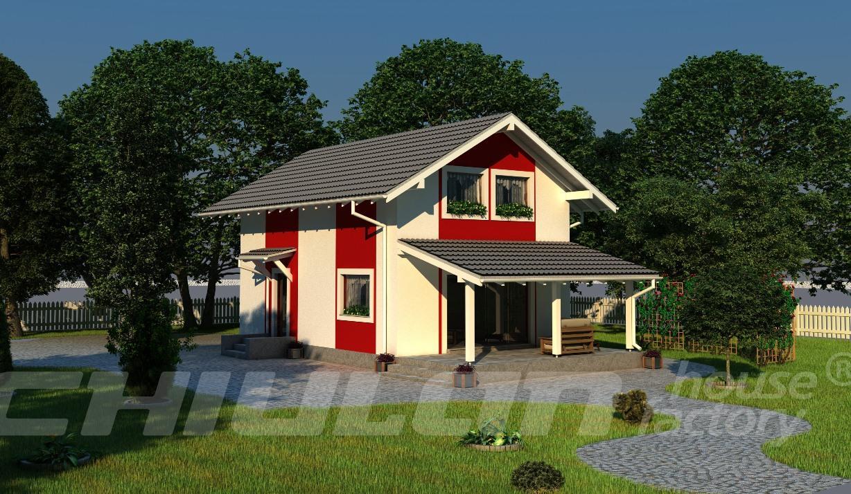 Casa prefabbricata di legno classe a for Casa in legno romania