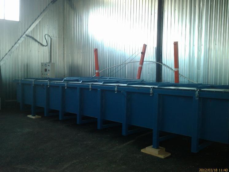 Press-vacuum-drying-chamber