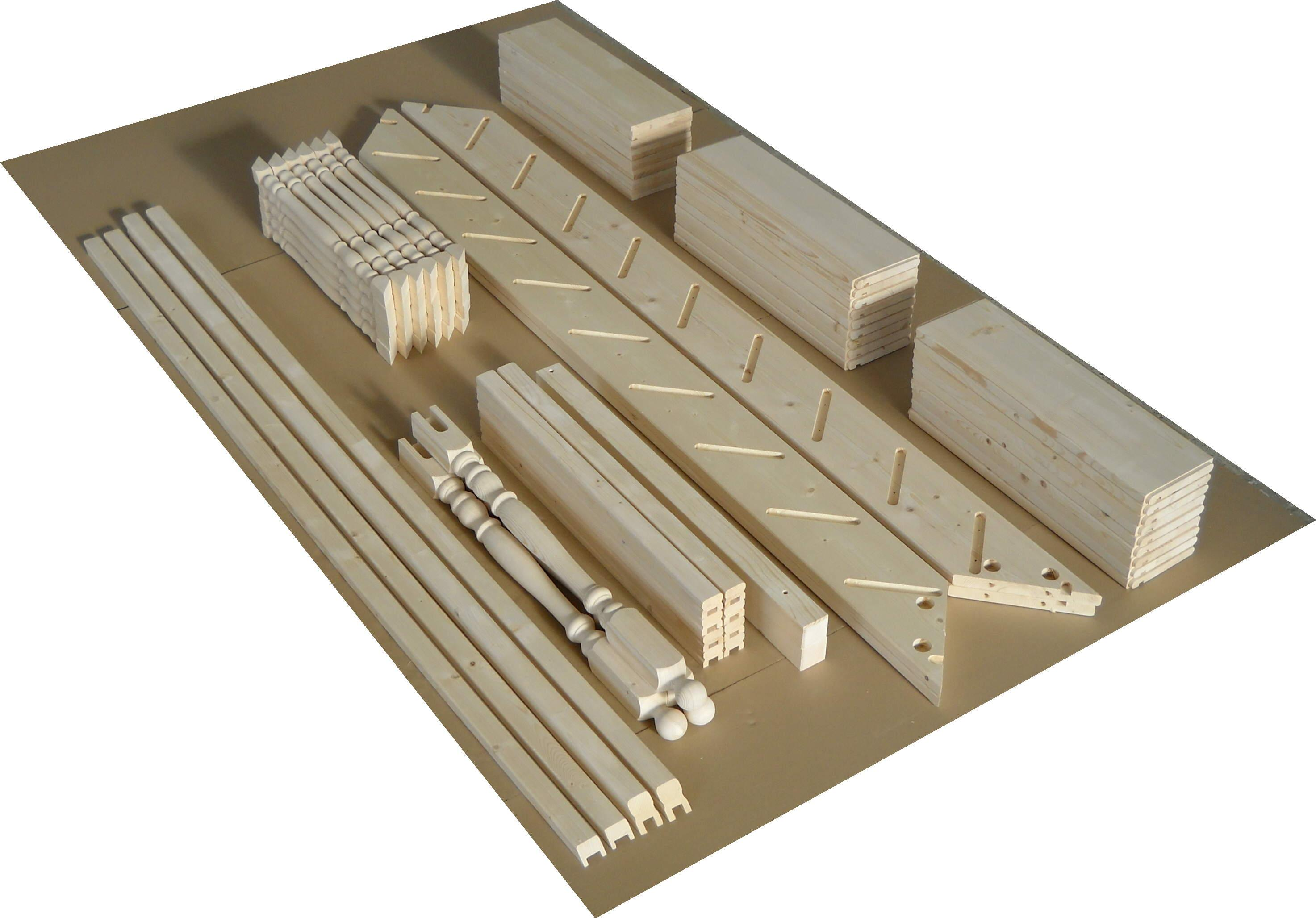 Escaliers, epicéa (picea abies) bois blancs