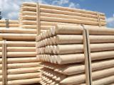 Drewno Iglaste  Kłody Na Sprzedaż - Paliki, Świerk  - Whitewood