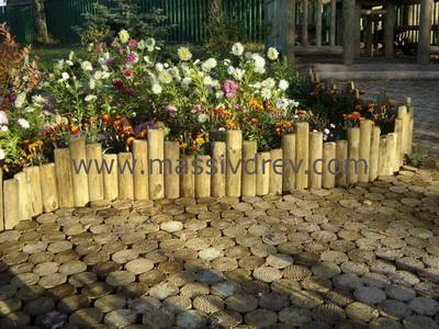 Fences of different types for Bordures de jardin en bois