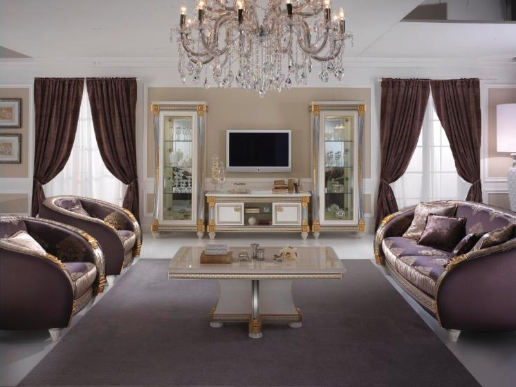 design living room in classic style