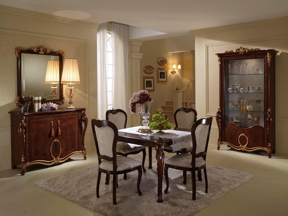 Set Sala Da Pranzo Traditional Design / Classique Design 1 100 Pezzi #515B10 1181 886 Nella Sala Da Pranzo In Francese