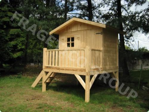 Caba a para ni os abeto picea abies madera blanca for Cabanas infantiles en madera