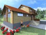 Case Din Lemn - Structuri Din Lemn Pt. Case  Molid - Casa din lemn FRG 117+7T+29B