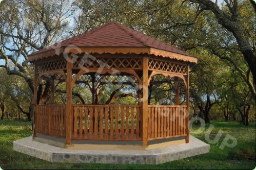 Gloriette hexagonale for Kioscos de madera baratos