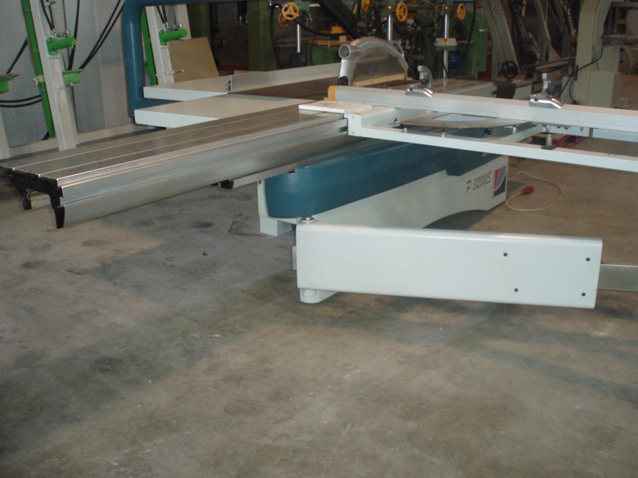 Escuadradora usada con corredera de 3200 mm marca paoloni - Sierras circulares de mesa ...