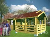 Holzhäuser - Vorgeschnittene Fachwerkbalken - Dachstuhl Zu Verkaufen - Holzhaus FRG 30+9T