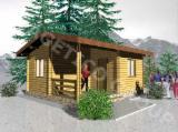 Holzhäuser - Vorgeschnittene Fachwerkbalken - Dachstuhl Zu Verkaufen - Holzhaus FRG 33+9T