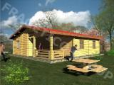 Maison Bois : Madrier Empilés à vendre - Chalet FRG 86+16T