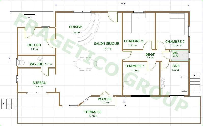 3层房屋框架结构图