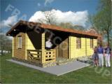 Holzhäuser - Vorgeschnittene Fachwerkbalken - Dachstuhl - Holzhaus FRG 54+9T