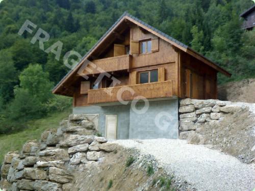 Casa de paneles modulares abeto madera blanca madera - Casas de madera blancas ...
