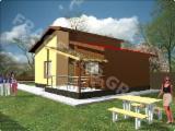 Casas De Madera-estructura De Madera Precortada Abeto Picea Abies - Madera Blanca - Wood house FRG 72+10T