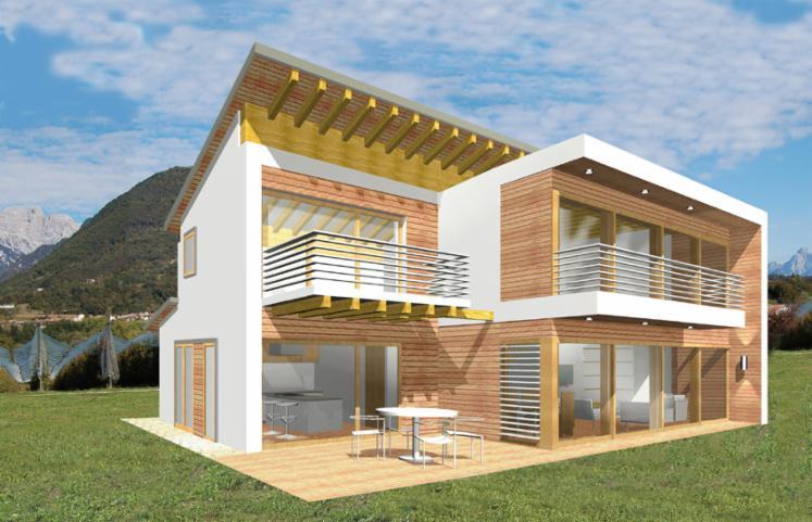 Case passive in legno preffabricate legno lamellare for Case in legno passive