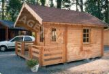 Wood Houses - Precut Timber Framing Spruce Picea Abies - Whitewood - Garden shed FRG 403528-CP