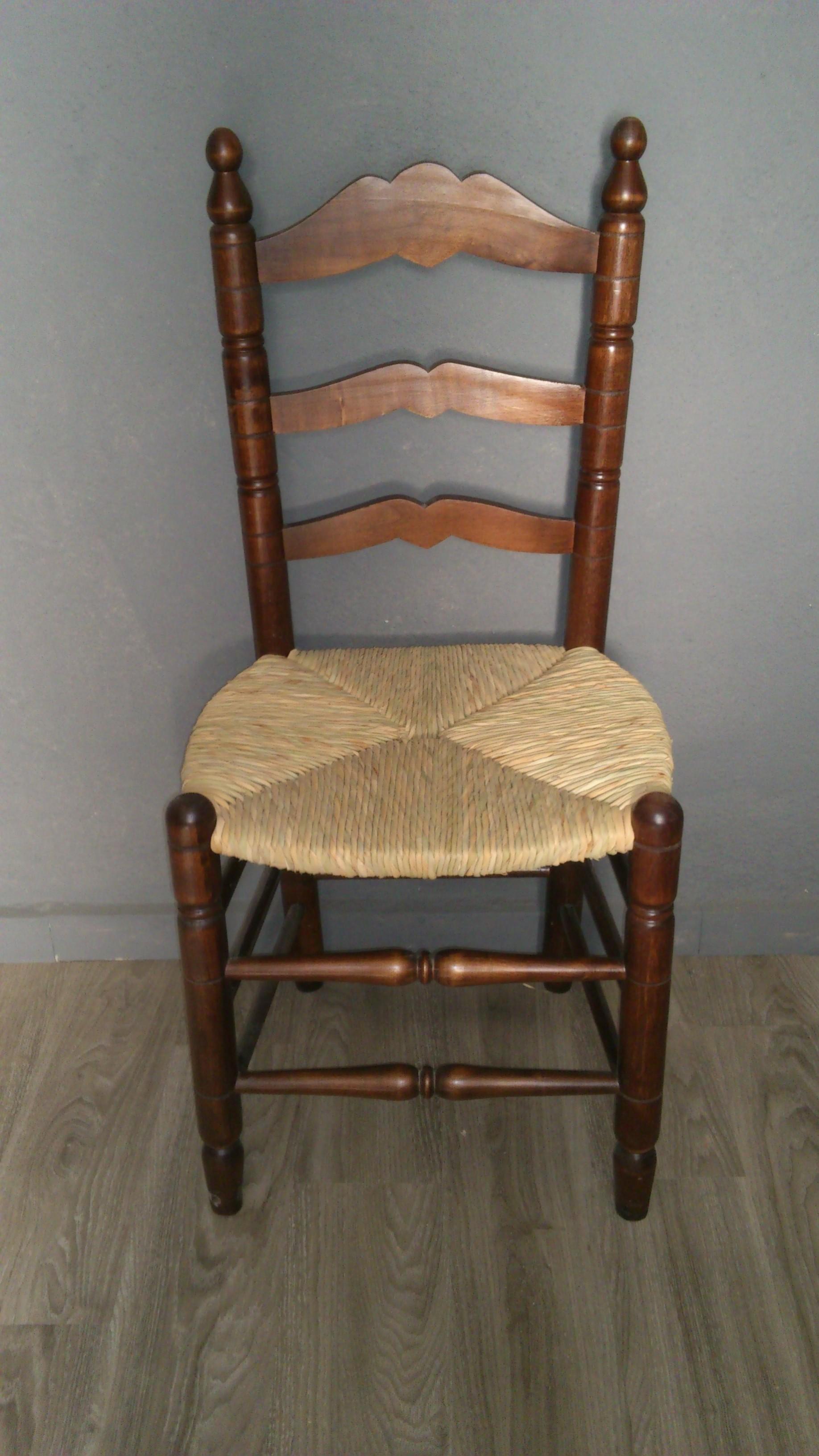 Sillas de comedor modelo colonial asiento hecho a mano - Sillas estilo colonial ...