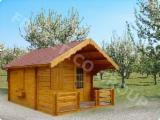 Дерев'яні Будинки - Каркасні Будинки Для Продажу - Ангар - Хатина, Ялина  - Біла