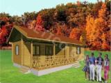 Wood Houses - Precut Timber Framing - Wooden house P-FRG 59+23T