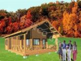 Holzhäuser - Vorgeschnittene Fachwerkbalken - Dachstuhl Zu Verkaufen - Holzhaus FRG 71+26T