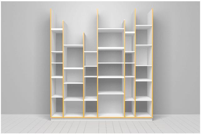 Boekenkast modern 100 0 1000 0 stuks vlek 1 keer - Moderne boekenkast ...