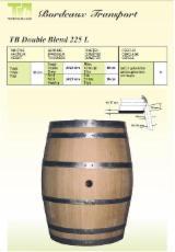 Paleți, elemente de paleți - Butoaie pentru vin, tip TB DOUBLE BLEND 225 L