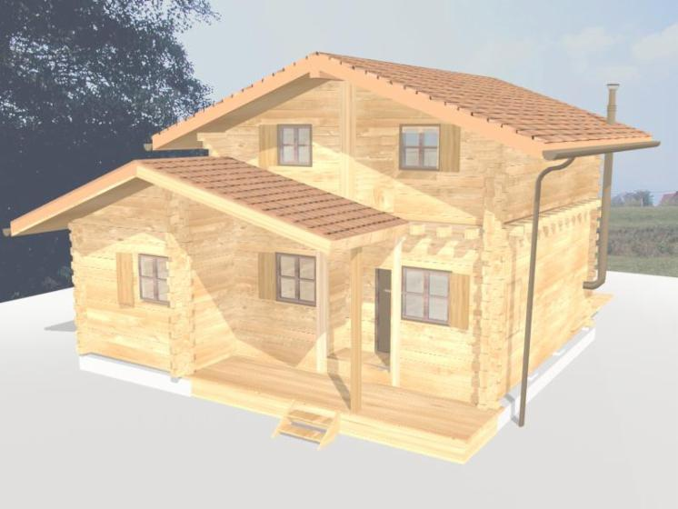 Square-Milled-Log-House