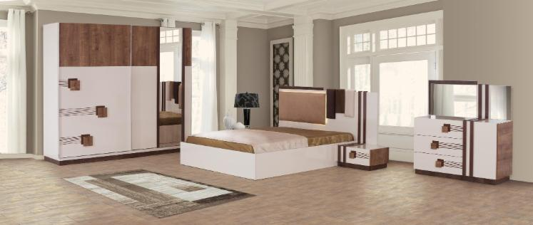 Wholesale design particle board bedroom sets neg l turkey - Chambre style americain ...