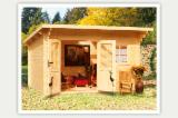 Garden Log Cabin - Shed, Spruce (Picea abies) - Whitewood