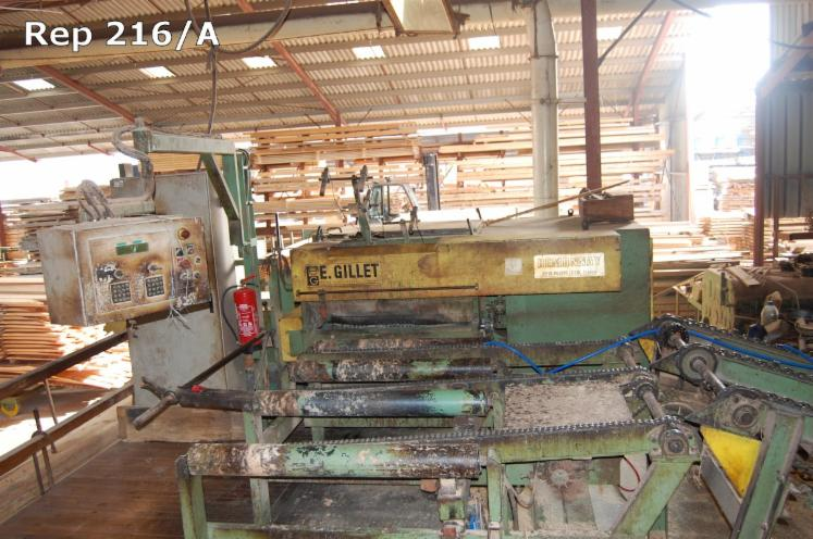 Used-1995-REMONNAY-Double-Blade-Edging-Circular-Saw-in