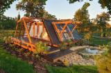 Lebanon Cedar Wooden Houses - Wood house post-beam modern design & unique modular concept