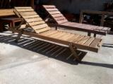 CE Certified Garden Furniture - Design White Fir (Abies concolor) Finisat Lacuit Garden Loungers Romania