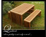 Garden Furniture Teak - Slats Dining Set