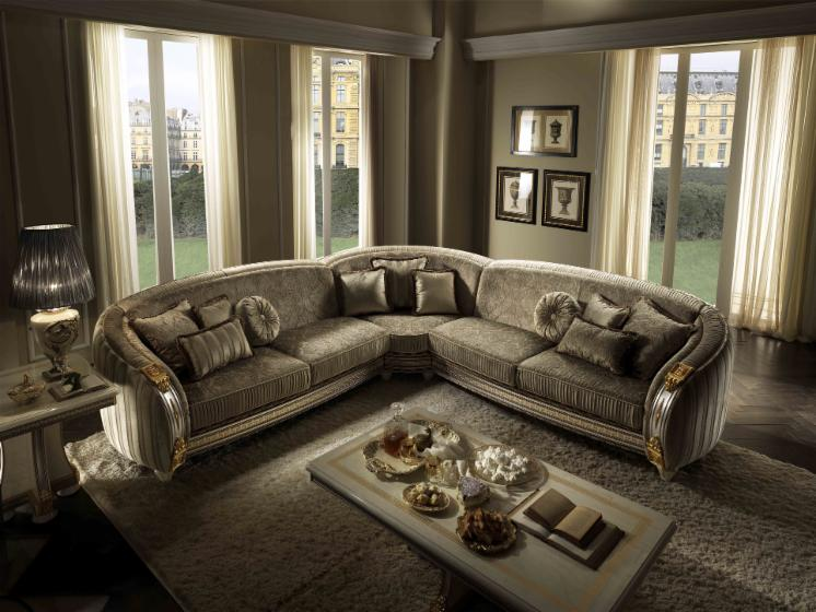 Design living room in classic style liberty for Salon classique