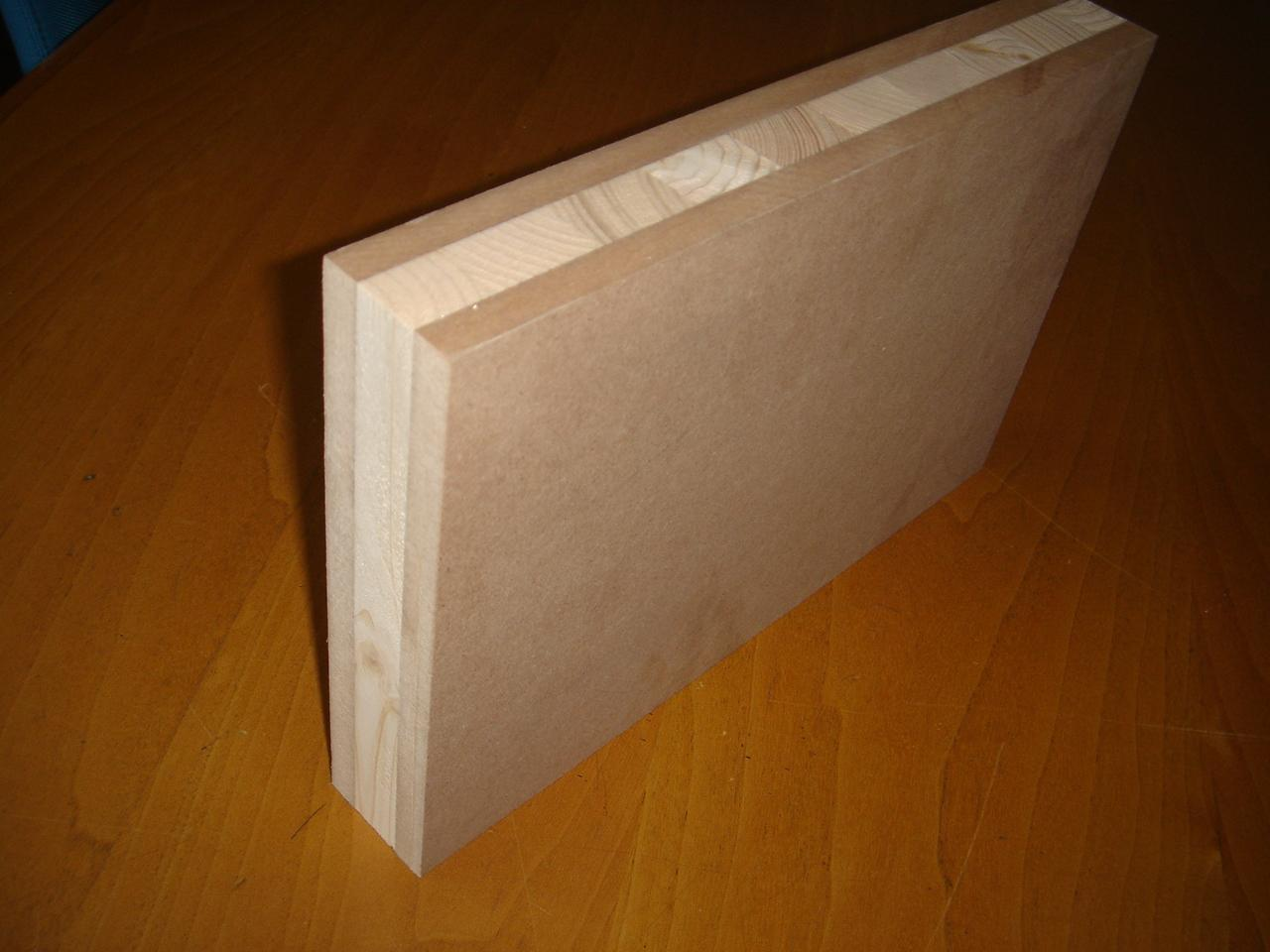 We offer Blockboard Panels with spruce core and 12 mm thick Mdf faces #3C1B04 1280x960