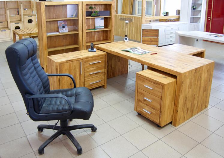 Muebles de oficina de madera de roble macizo for Oferta muebles oficina