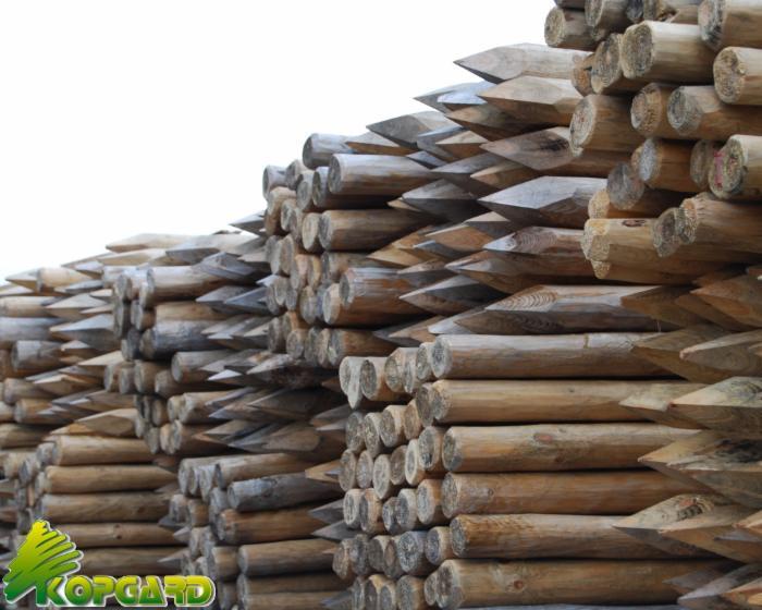 Piquet rondin demi rondin bois ronds palissade bois 8 10x250 - Tuteur bois brico depot ...