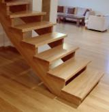 Solid Wood Components For Sale - Edge-glued Oak and Ash construction elements for stairs, half products
